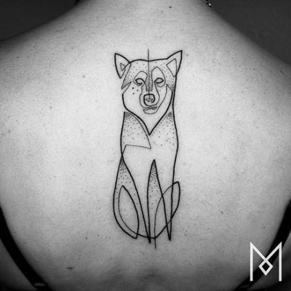 Continuous Line Drawing Tattoo : Incredible tattoos that were created using a single