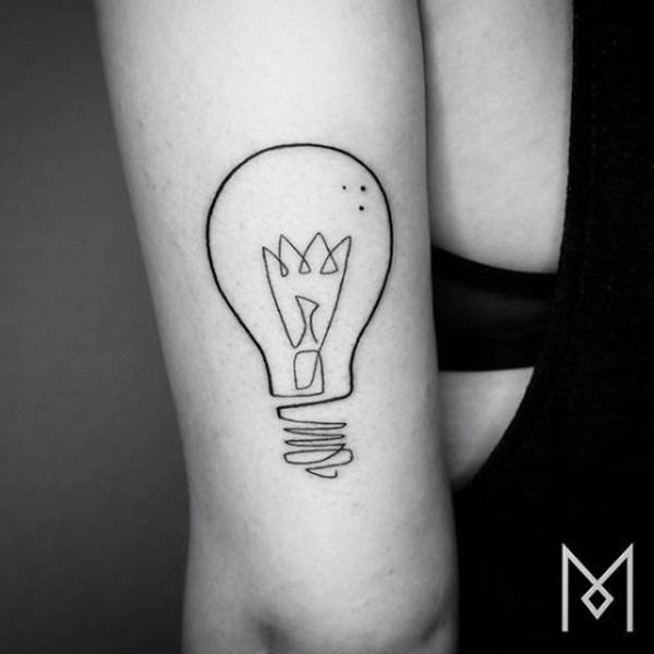 Incredible Tattoos That Were Created Using A Single Continuous Line