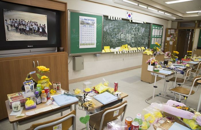 An Eerie Classroom In South Korea Sits Frozen In Time