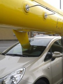 Helicopter Lands Directly In A Car's Windshield