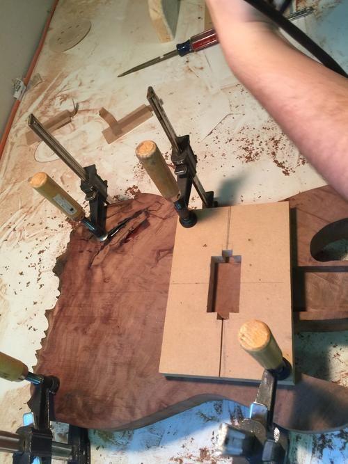 How To Build A Guitar Using A Piece Of Mahogany