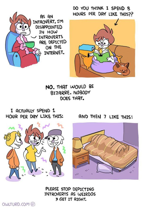 Fun Comics That Will Make Perfect Sense To All The Introverts Out There
