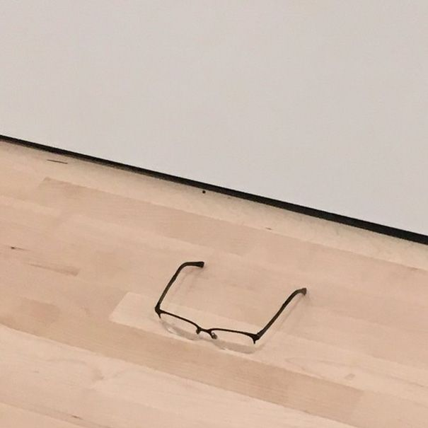 Everyone At The Museum Thought These Glasses On The Floor Were Art