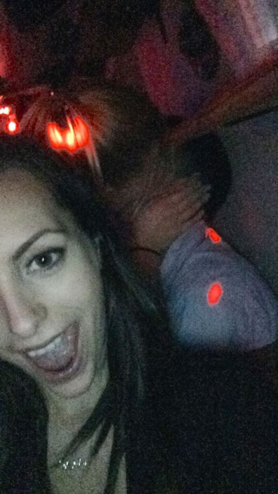 Girl Takes Selfies With Random Couples While They're Making Out