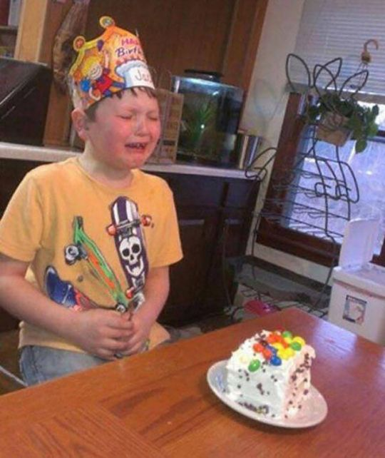 He Thought He Was Getting Cake, But Mom Had Other Plans