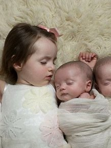 Mom Has Her Hands Full With Genetically Identical Triplets