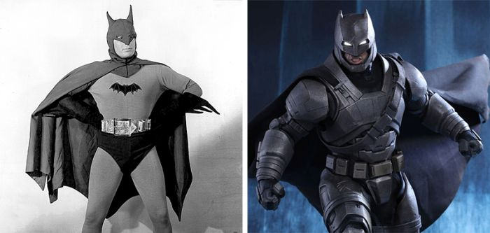 Famous Superheroes Back In The Day And Today