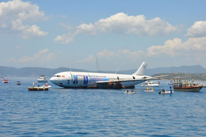 Turkish Government Sinks An Aircraft In The Aegean Sea