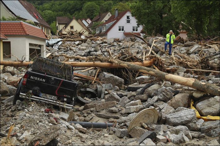 Small Towns In France And Germany Rocked By Heavy Rains