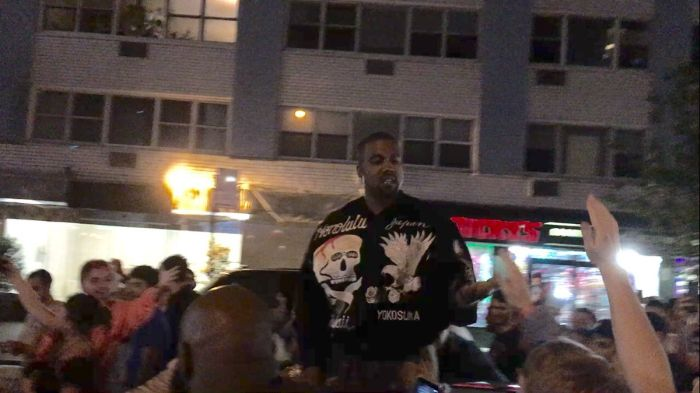 Kanye West Causes Chaos In The Streets Of New York City