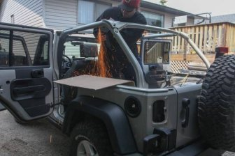 Guy Converts His Jeep Into A House On Wheels