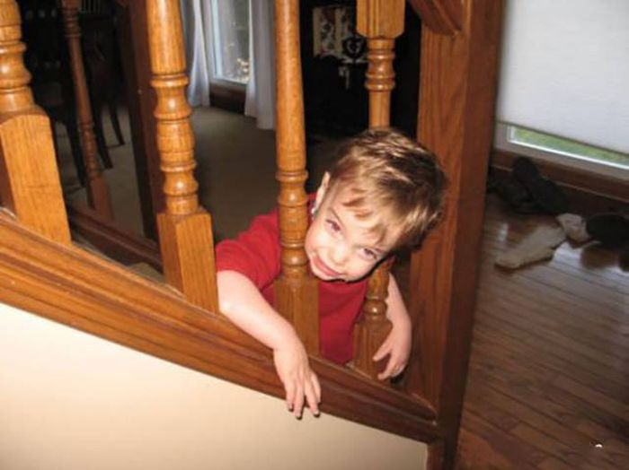 Kids Are Really Good At Getting Stuck In Awkward Spots | Fun