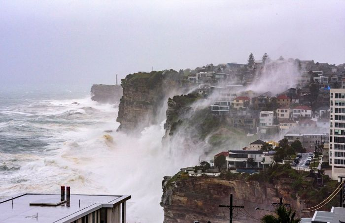 Wild Weather Rocks The Coast Of Sydney