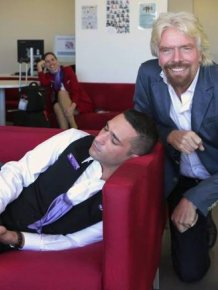 Richard Branson Asks For Photoshop Help After He Caught His Employee Sleeping
