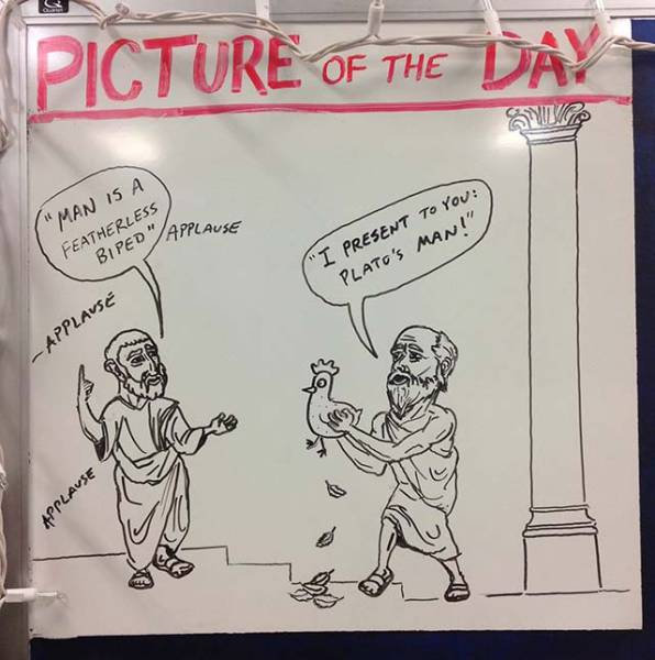 History Teacher Shows Off His Artistic Side On The Whiteboard