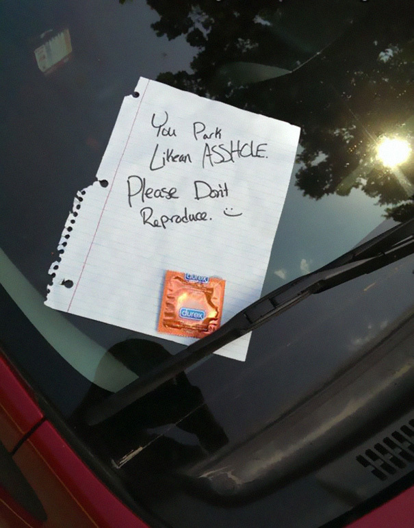 People Who Got Furious Over Bad Parking Jobs And Left Angry Notes