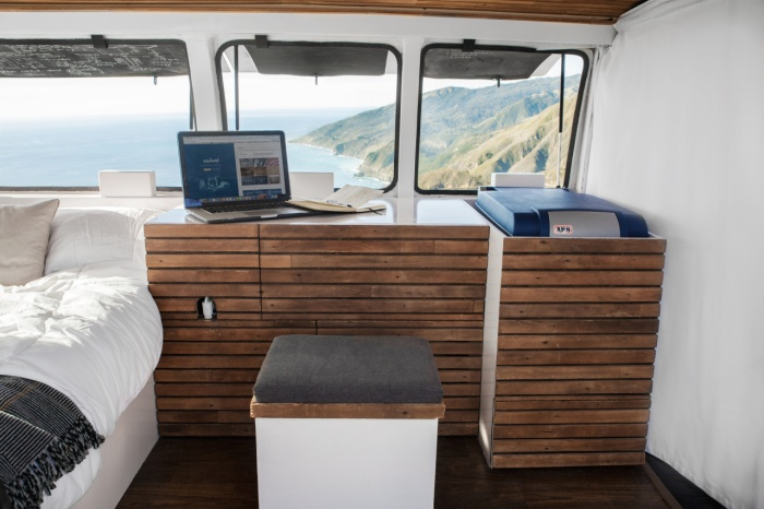 How To Turn An Old Van Into An Office On Wheels