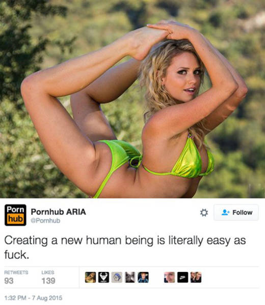 The Girl Who Runs Pornhub's Twitter Account Has Some Clever Jokes
