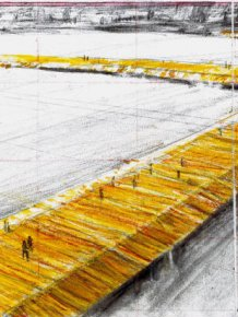 Floating Piers Installed On Lake Iseo In Italy