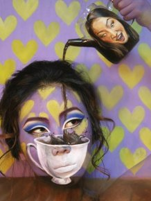 Artist Creates Optical Illusions Using Her Own Face