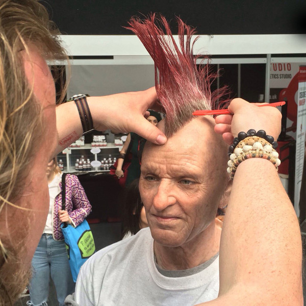 How A Young Girl Transformed Herself Into An Old Punk With A Mohawk