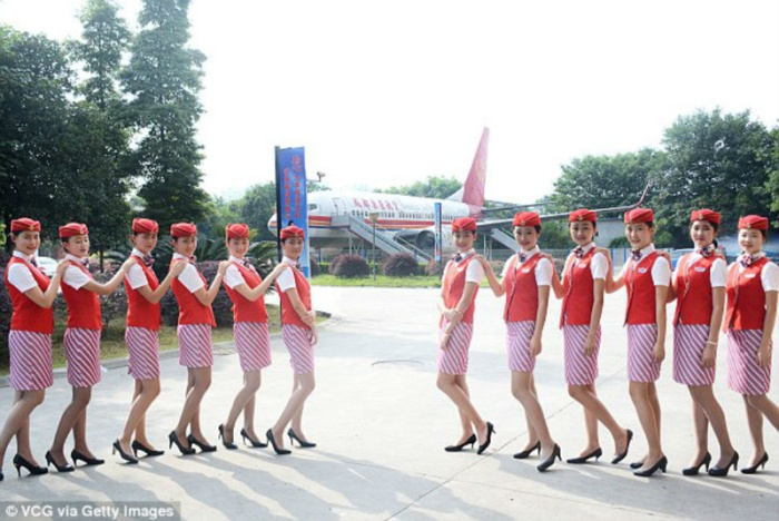Chinese Flight Attendants Go Through Some Intense Training