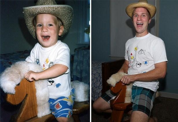 Recreating Childhood Photos Always Brings Back Good Memories