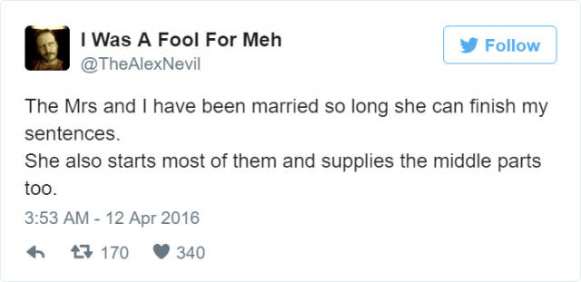Tweets About Marriage That Tell It Like It Is