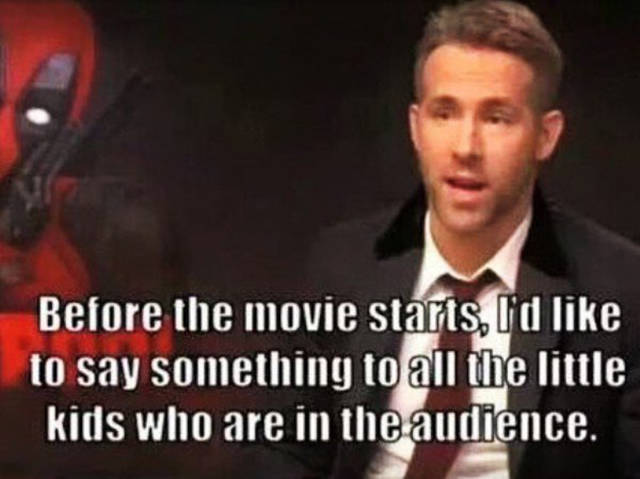 Ryan Reynolds Sends A Message To Kids Who Want To Watch Deadpool