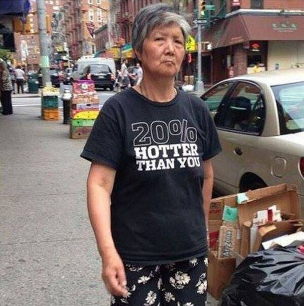 Elderly People Who Love Wearing Awkward T-Shirts In Public