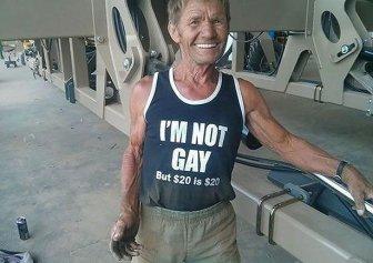 Elderly People Who Love Wearing Awkward T-Shirts In Public