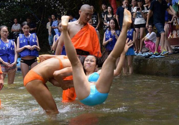 Chinese Rescuers Train Hard In Bikinis
