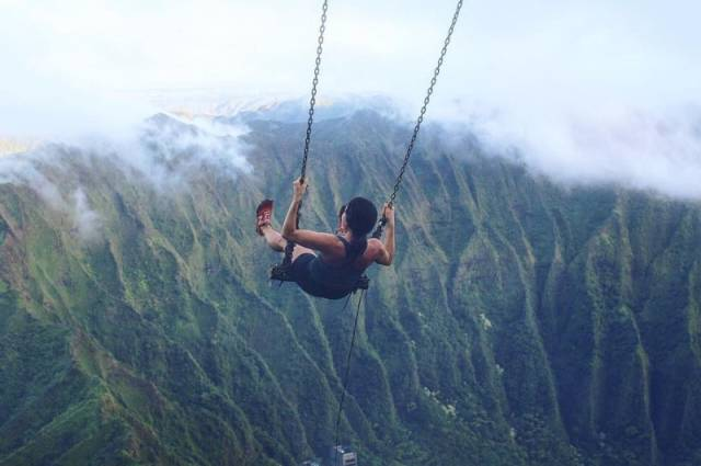 Only The Bravest Of The Brave Will Swing On This Swing