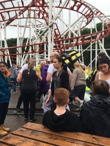 Tsunami Rollercoaster Derails At Scottish Fairground