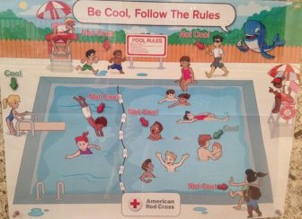 People Are Calling This Red Cross Pool Safety Poster Racist