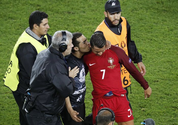 Cristiano Ronaldo Defends Fan At Workers Stadium