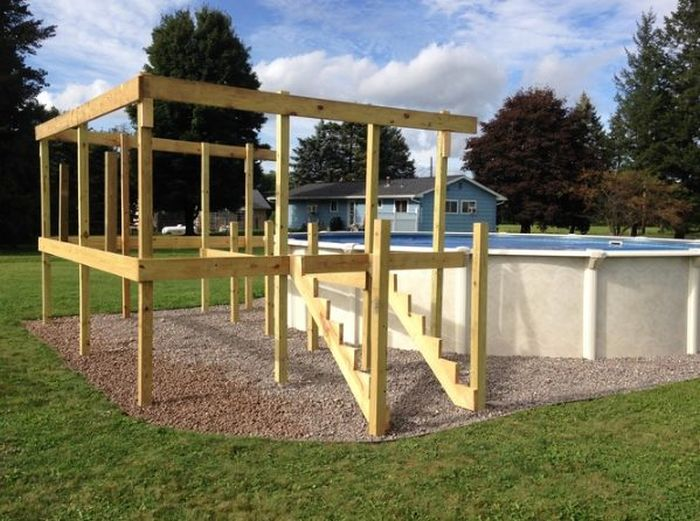 Adding A Deck To Your Above Ground Pool Will Make It Look Way Cooler