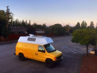 Old Van Gets Converted Into An Adventuremobile
