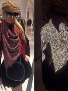 Celebrities Are Using A Special Scarf To Mess With The Paparazzi