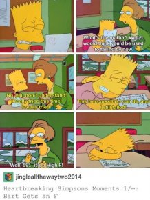 A Photo From The Simpsons Inspired People To Talk About The Grading System