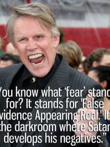 A Collection Of Crazy Quotes Courtesy Of Gary Busey