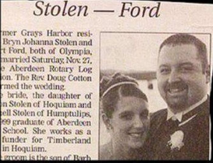 Wedding Name Combinations That Were Unintentionally Hilarious