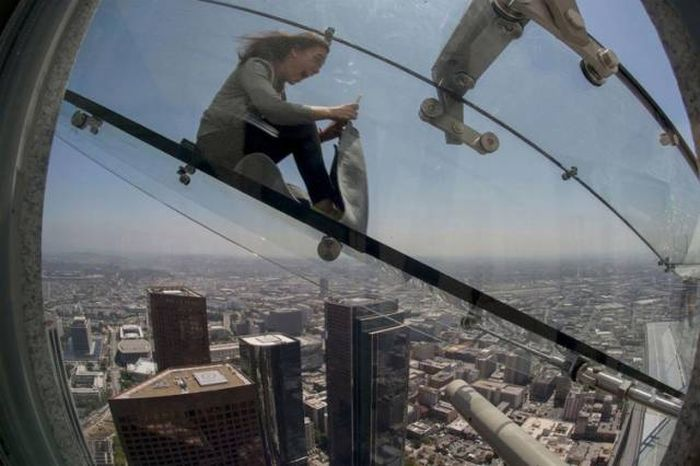 Are You Brave Enough To Ride This Terrifying Glass Slide?