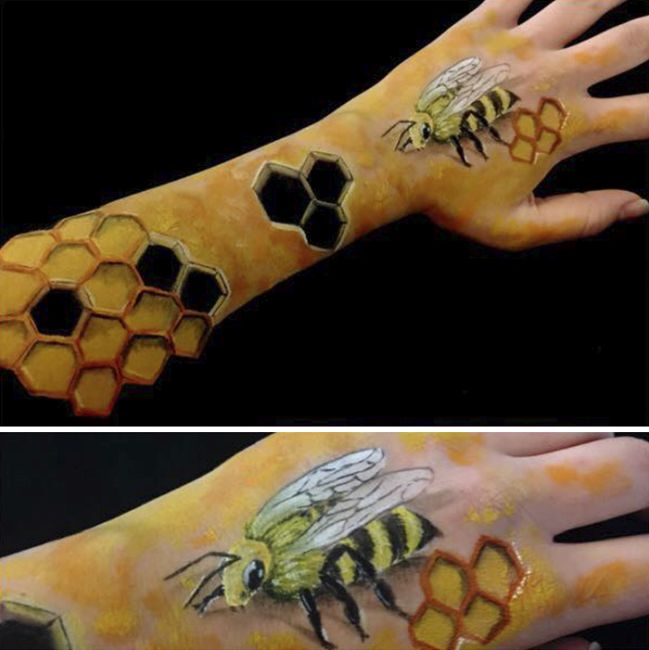 Artist Turns Their Own Arms Into Optical Illusions