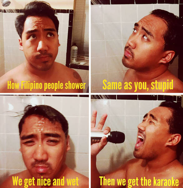 Amusing Memes Show How Different People Take Showers Around The World