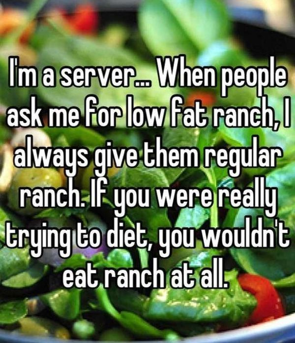 Confessions From Servers That Will Make You Want To Eat At Home