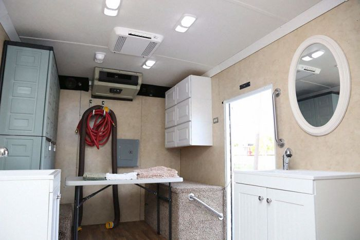 Generous Man Turns Old Truck Into Mobile Shower For The Homeless