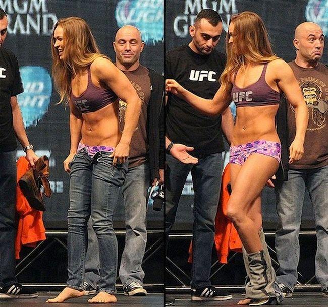 Joe Rogan Makes Hilarious Faces During UFC Weigh-Ins