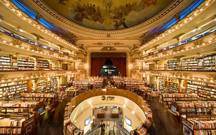 Old Theater Converted Into A Breathtaking Bookstore