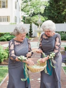 Bride And Groom's Grandmas Team Up To Be Flower Girls At Their Wedding